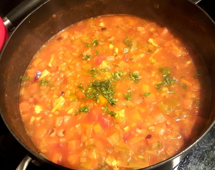 Black bean soup 6