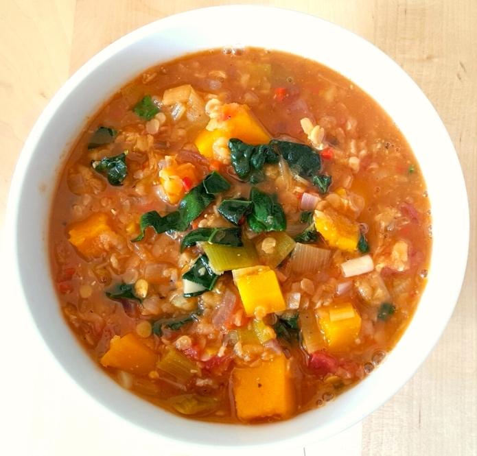 Kale lentil soup 10