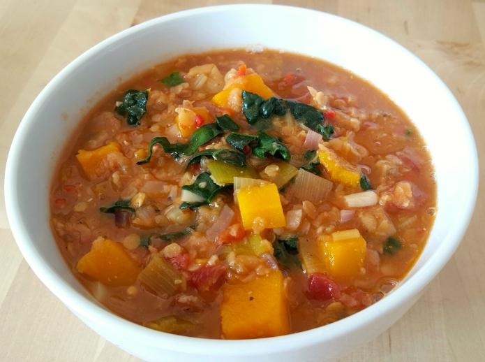 Kale lentil soup 11