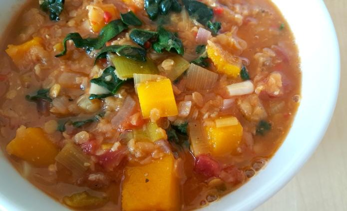 Kale lentil soup 13