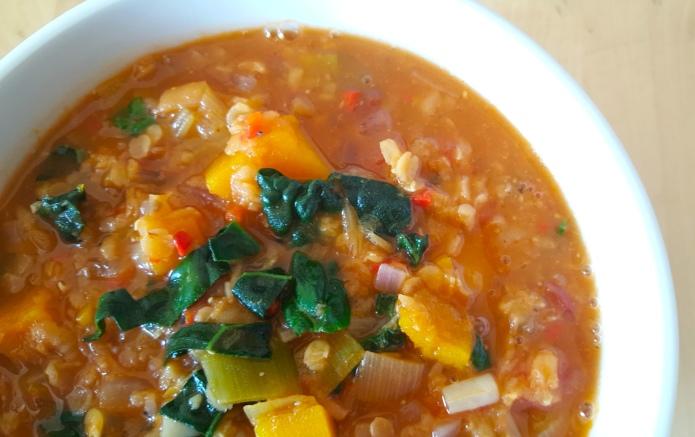 Kale lentil soup 19
