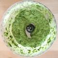 Broccoli rice pesto prep2