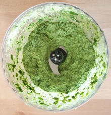 Broccoli rice pesto prep 2