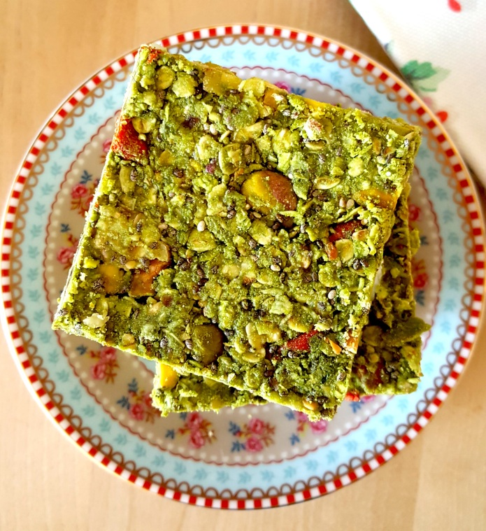 Green tea oat bar 1