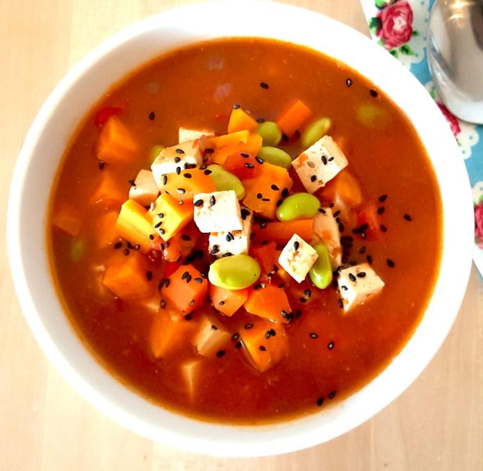 Miso tofu soup 1