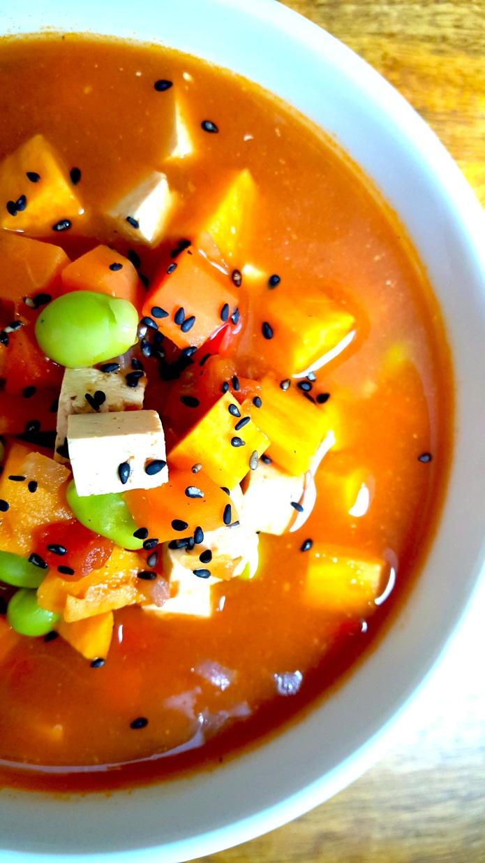 Miso tofu soup 10