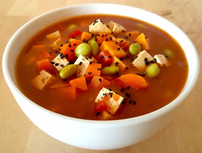 Miso tofu soup 16