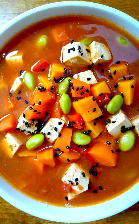 Miso tofu soup 24
