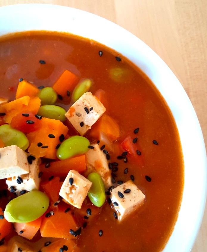 Miso tofu soup 6