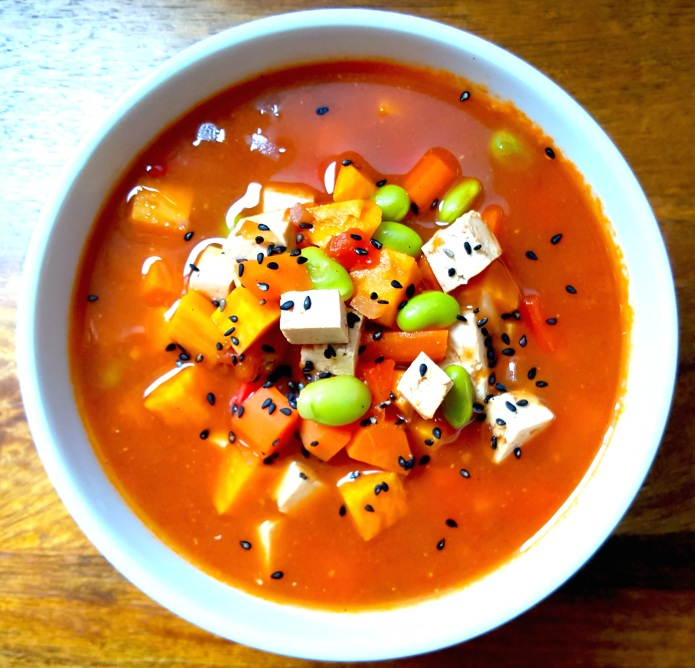 Miso tofu soup 9