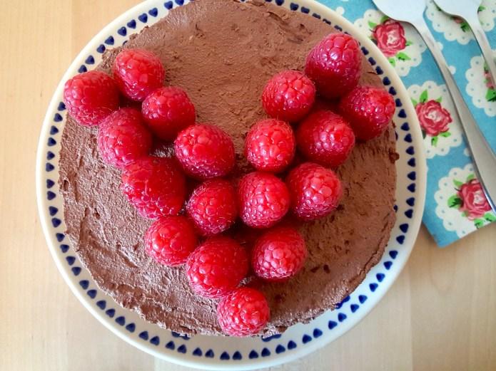 Choc tart raspberry 20 heart