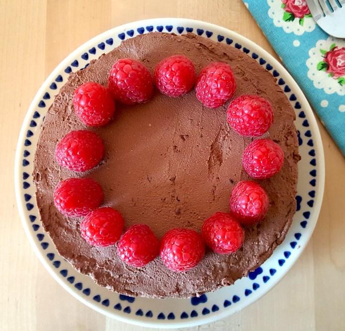 Choc tart raspberry 22