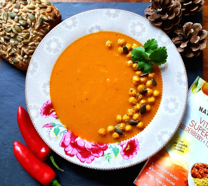 Curried carrot soup 1