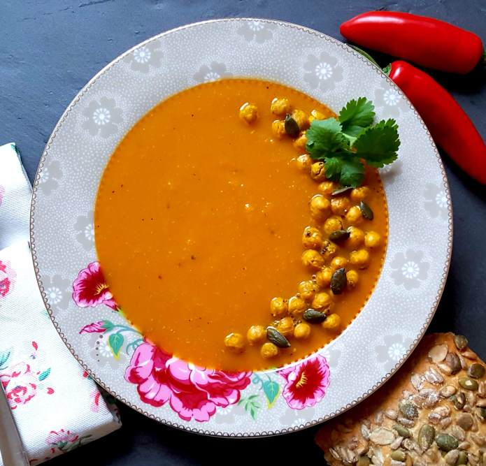 Curried carrot soup 25
