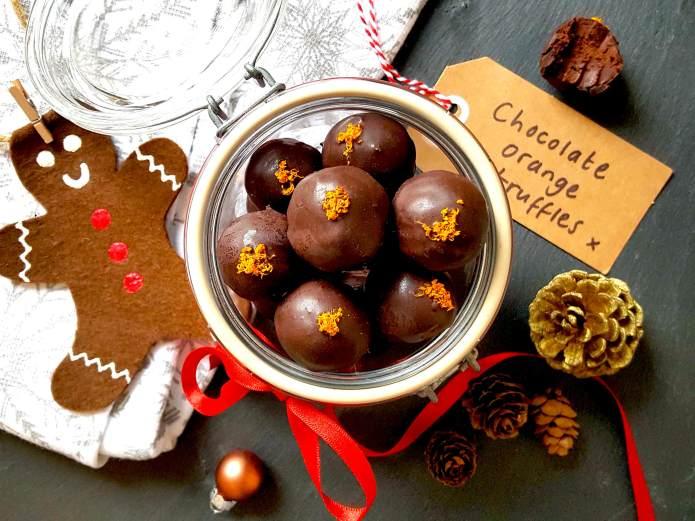 Choc orange truffles 16