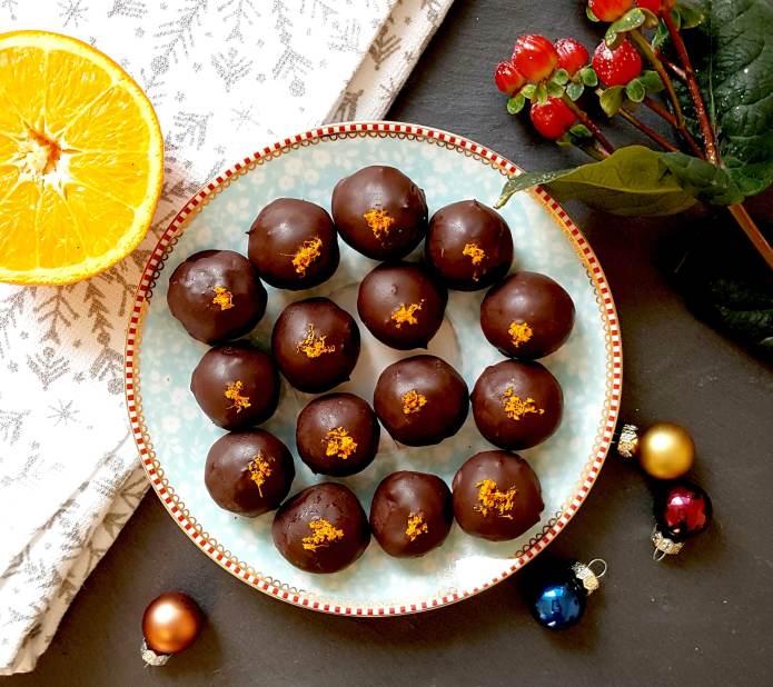 Choc orange truffles 4