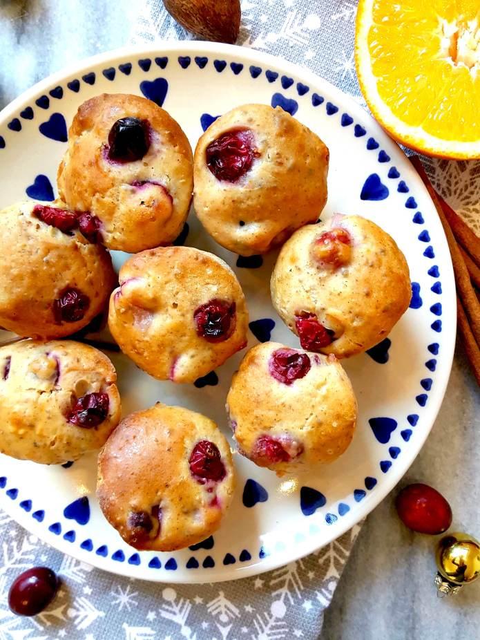 Orange cranberry muffins 12