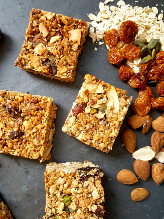 Cinnamon granola bars 16