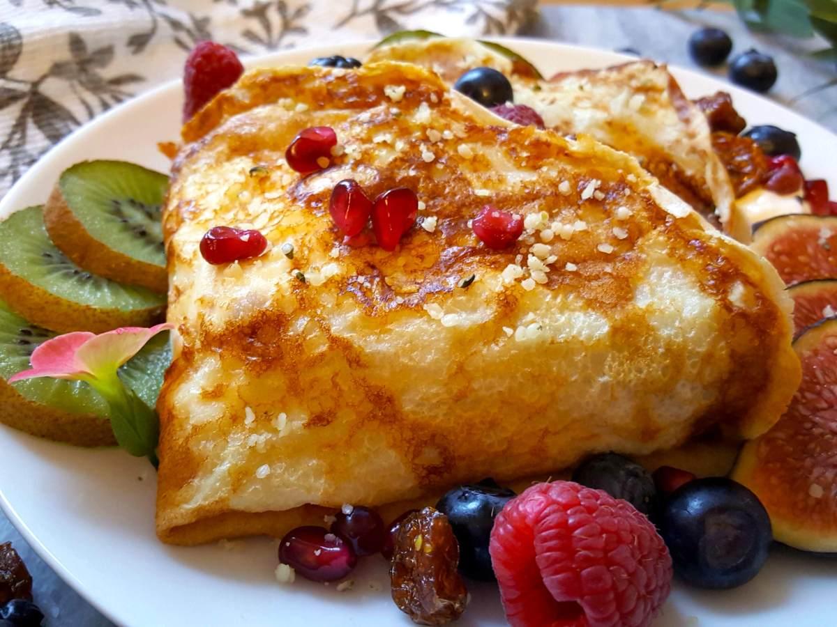 Healthy Vegan Protein Crepes