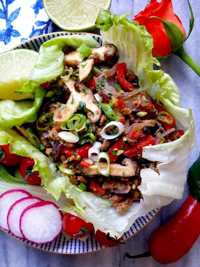 Thai mince with mushrooms (vegan) – SOBODY HEALTHY RECIPES