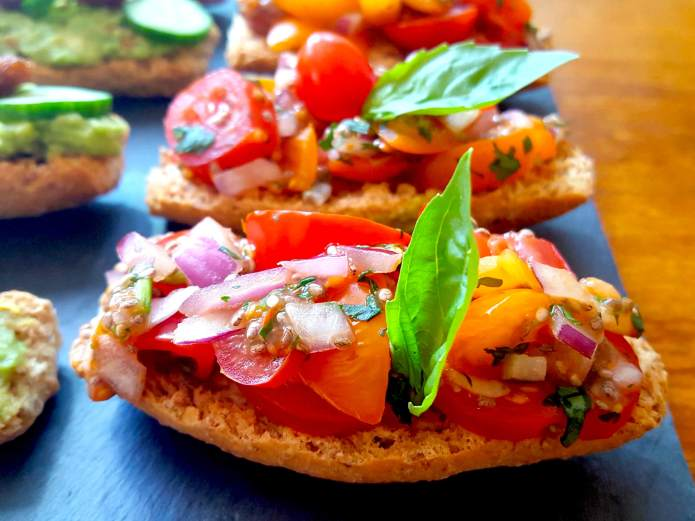 Tomato salsa bruschetta 4