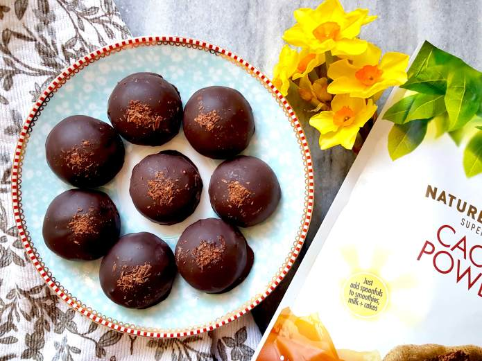 Cookie dough truffles cacao